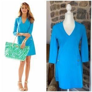 Lilly Pulitzer Charlena Ariel Blue V Neck dress